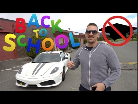 Driving A Ferrari Back To The School I Dropped Out Of!