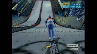 Torino 2006 PlayStation 2 Gameplay - Ski Jump