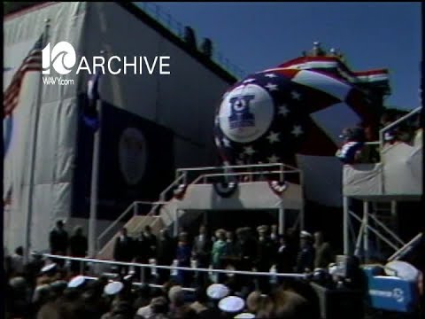 WAVY Archive: 1981 Vice President George Bush Houston Submarine Christening