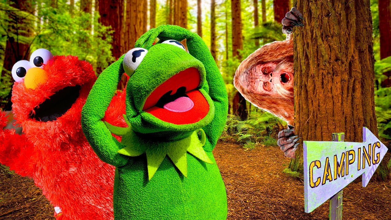 Elmo and Kermit The Frog See BIGFOOT While Camping?!