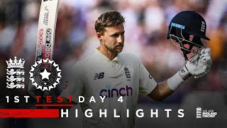 Classy Root Hits Century!   England v India - Day 4 Highlights   1st LV= Insurance Test 2021