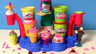 Play Doh Magic Swirl Ice Cream Shop Playset Sweet Shoppe Sorveteria Fábrica De Sorvetes Heladeria