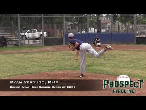 Ryan Verdugo Prospect Video, RHP, Bishop Amat High School Class of 2021