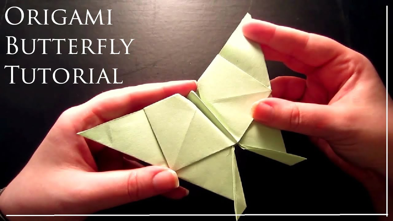 Super Simple Origami Tutorial Butterfly - YouTube - photo#23