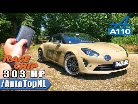 ALPINE A110 RaceChip 303HP REVIEW POV Test Drive on AUTOBAHN & ROAD by AutoTopNL