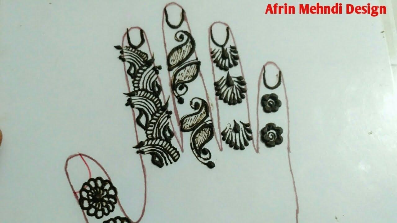Finger Mehndi Art : Arabic finger henna mehendi design by afrin khan mehndi art