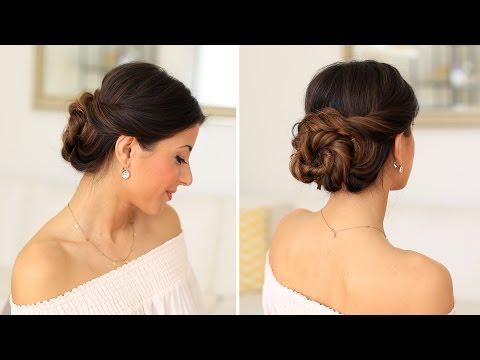 2 Minute Elegant Bun Hair Tutorial | Luxy Hair