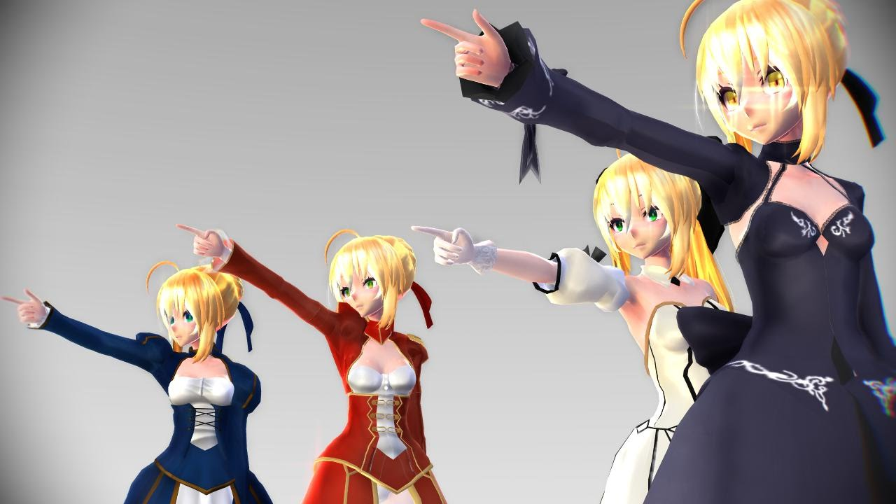 【MMD-Fate】 Sweet Devil Colate Remix 【Test Model】【4 TDA / Saber-Lily-Nero-Alter  2nd Ver】 HD 720p - YouTube