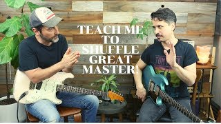 Learn How To Rock A I IV V Blues Shuffle With Corey Congilio - Guitar Lesson - Rhythm And Lead Tips