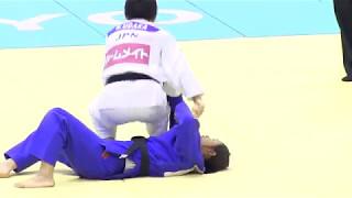 Udaka Nae's Osoto Gari Technique Judo 宇高菜絵 柔道