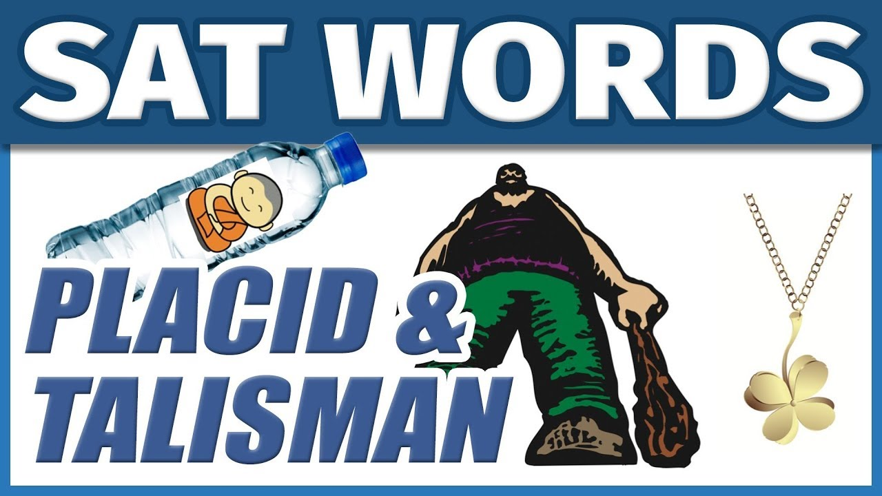 📖 College Vocabulary SAT Words - PLACID & TALISMAN | How to Memorize  English Vocab Fast | Students