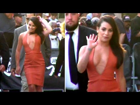 Lea Michele Red Hot At Jimmy Kimmel Live!