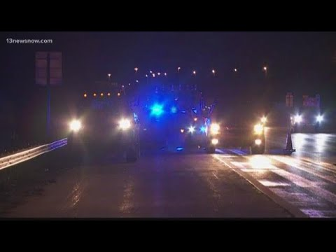Fatal accident on I-64 work zone in Virginia Beach