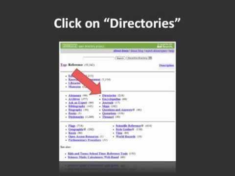 Link Building Tip: Find Niche Directories with DMOZ