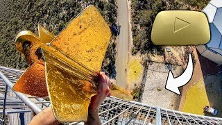 GIANT DART Vs. GOLD PLAY BUTTON from 45m!...