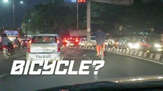 WHEELIE in the middle of traffic (INDIA VLOG, MOTORCYCLES, BMW M5, TRAFFIC +)