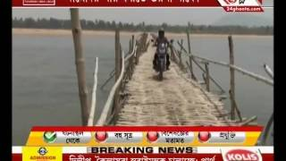Not a single brick laden for the bride on the river Damodar