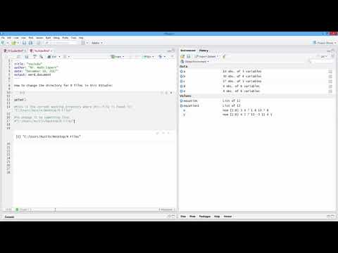 How to Change Working Directory in R. [HD]