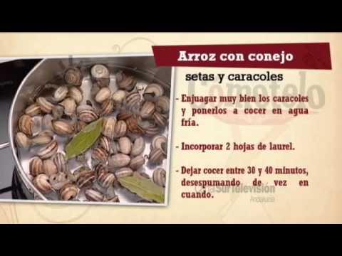 Receta arroz con conejo setas y caracoles youtube for Arroz con setas y trufa