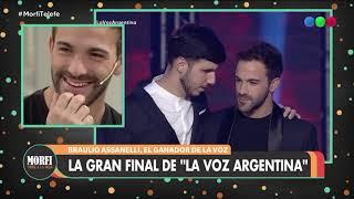 Braulio, el ganador de La Voz Argentina cantó en vivo en Mo...