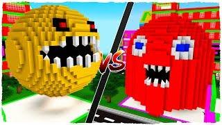 Casa De Pacman Vs Casa De Fantasma - Minecraft