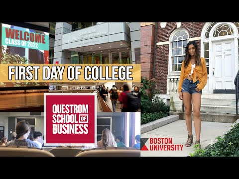 FIRST DAY OF COLLEGE (Get Lost With Me) // Boston University Questrom School of Business