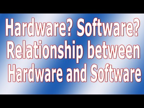DIT / ICT / Definition of Software and Hardware, Relationship between Software and Hardware