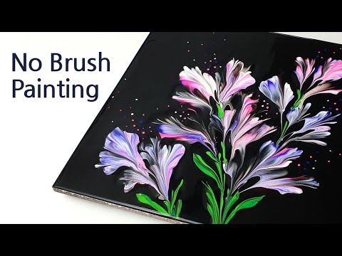 Download (425) Easy painting tip | Plastic wrap smash | Fluid Acrylic Pouring for beginner | Designer Gemma77