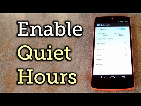 Enable Do Not Disturb (AKA Quiet Hours) On Stock Android [How-To]