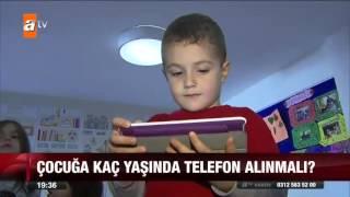 Çocuğa kaç yaşında telefon alınmalı? - 18.10.2015 - atv Ana Haber
