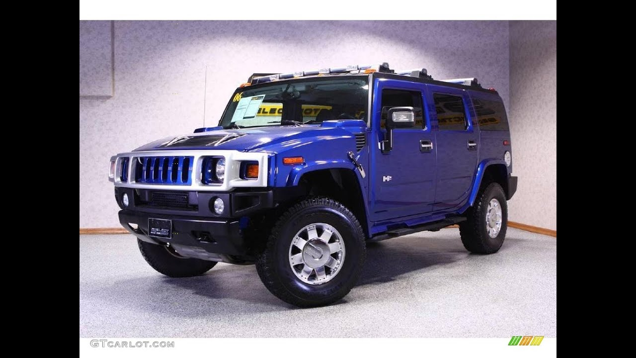 2006 hummer h2 sut pacific blue youtube