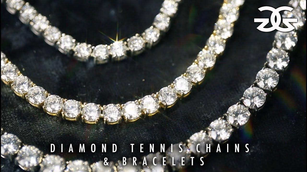 Diamond Tennis Chains Bracelets by The Gold Gods YouTube
