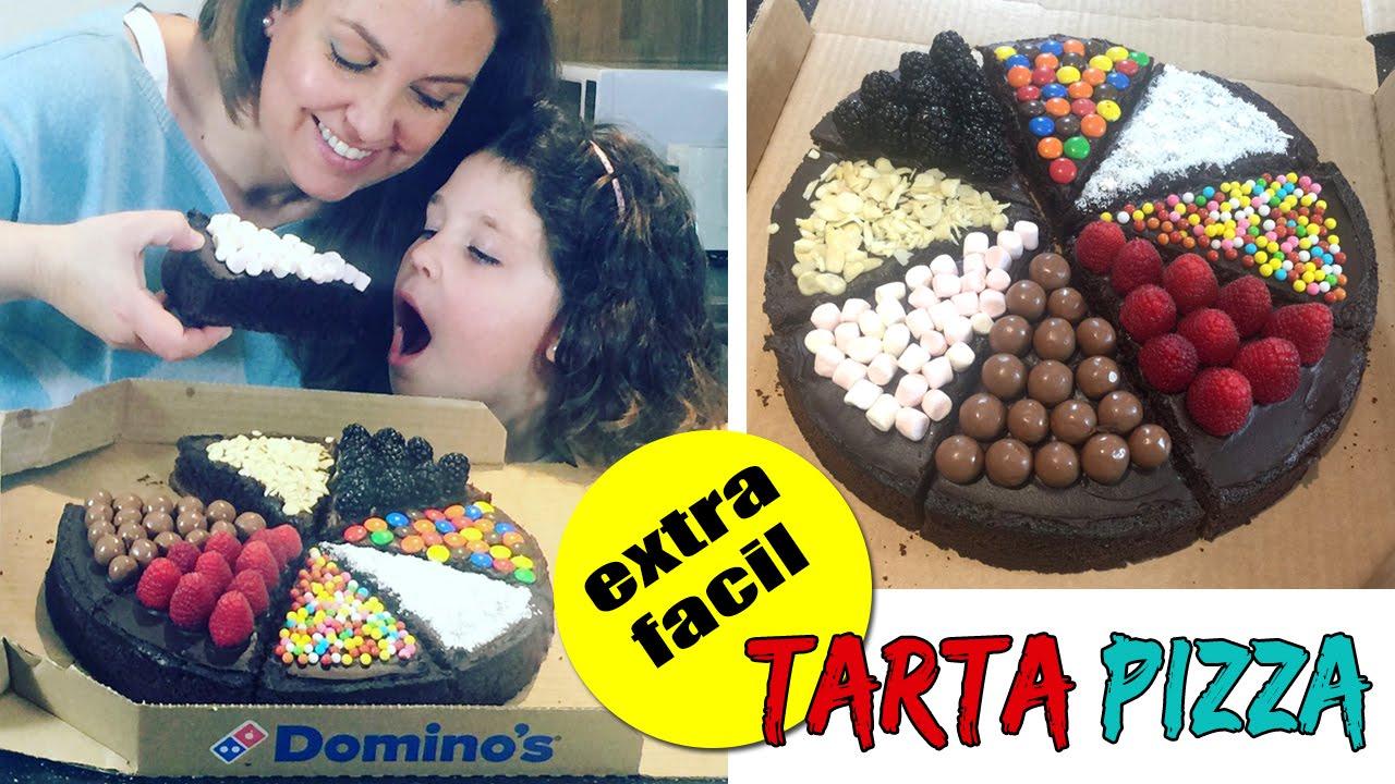 TARTA en forma de PIZZA Tartas fciles y originales YouTube