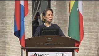 5カ国首脳が投資呼び掛け スー・チー氏やタイ首相ら スーチー 検索動画 4