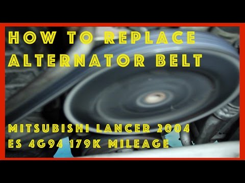Mitsubishi Lancer Fix: Alternator Belt Replacement, Tension Check 4PK775