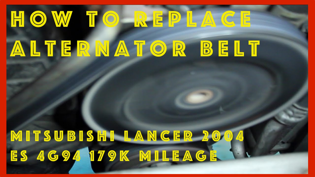 mitsubishi lancer fix alternator belt replacement tension check 4pk775 [ 1280 x 720 Pixel ]
