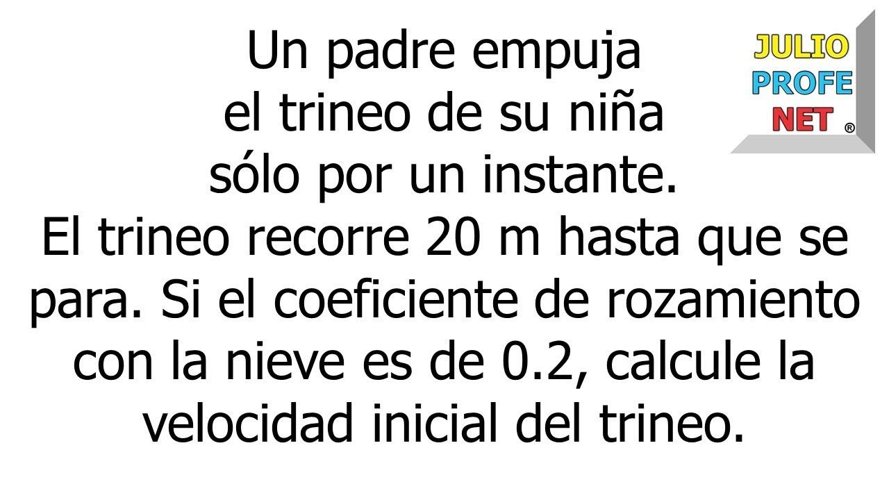 CONSERVACIÓN DE LA ENERGÍA - Problema 2
