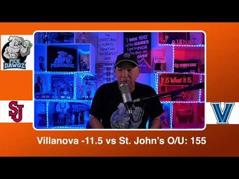 Villanova vs St. John's 2/23/21 Free College Basketball Pick and Prediction CBB Betting Tips