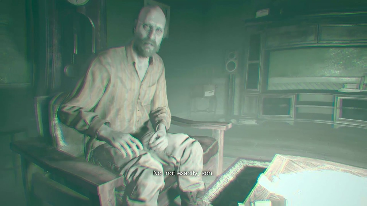 Resident Evil 7 Jack Baker Asks Ethan To Save His Family Youtube