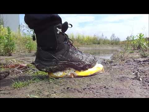 Dirty Adidas Staunee boots food / cake stomp mud / water play