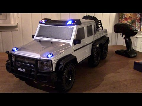 Rc Trail 6x6 Mercedes 10th Scale Led Light Kit Added Youtube