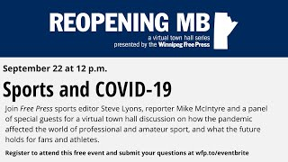 Reopening MB: Sports and COVID-19