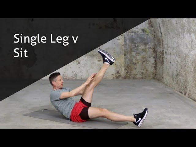 Single Leg v Sit - hoe voer ik deze oefening goed uit?