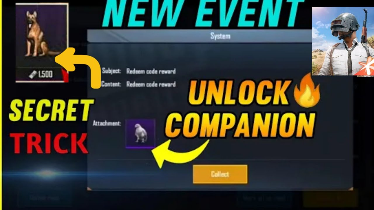 How To Get Free Companion In Pubg Mobile   Udax Gaming   - YouTube