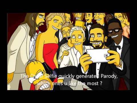 Oscars Selfie Parody The Simpsons Version Ellen Degeneres break twitter ?