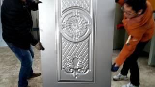 1.2mm thickness metal door skin making machine. frame type door plate pattern embossing machine
