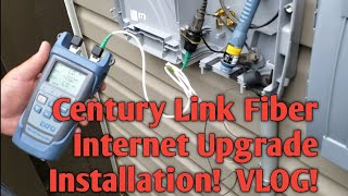 Fastest Upload Speed! Century Link Fiber Internet Installation!  Leaving Comcast Xfinity Gig. VLOG!