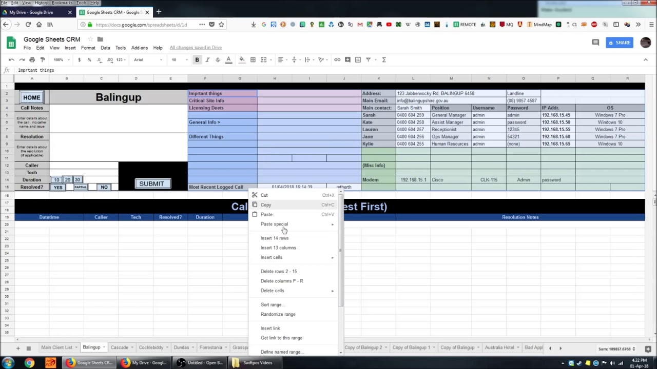 Creating A CRM System In Google Sheets 1