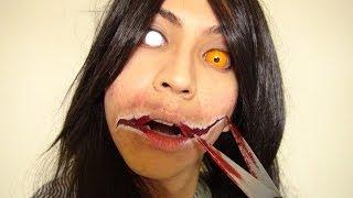 口裂け女メイク方法(化粧)Kuchisake-Onna Makeup Tutorial
