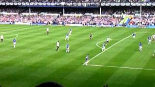 man city goal yaya toure everton vs man city 7th may 2011